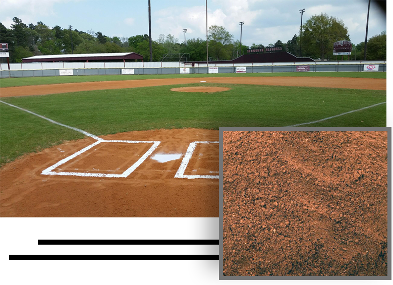 new field sand on a baseball field