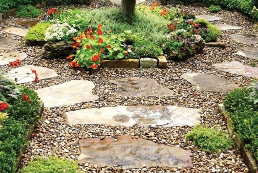 decorative with pea gravel